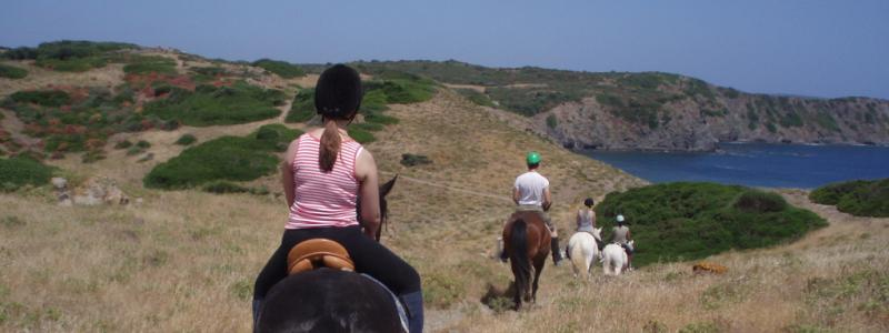 Ride towards Cala Mesquida
